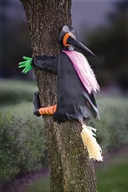 Gemmy Crashing Witch Halloween Decoration Orange/Purple/Black - $40.34