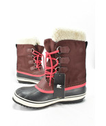 SOREL Carnival Winter Snow Boot Womens Size 8.5 Red Waterproof NL 1495-628 - €137,22 EUR