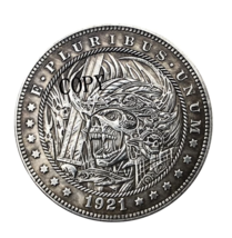 Hobo Nickel 1921-D USA Morgan Dollar Skulls Horror COPPY COIN For - $5.99