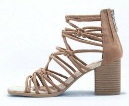 DV Women's Taupe Faux Suede Adira Strappy Knotted Zippered Back Heeled Sandals image 2
