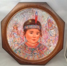Hibel Framed Plate Chief Red Feather From The Nobility Of Children Series - $29.35