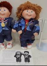 1996 Cabbage Patch Kids Danbury Mint OLYMPIKIDS with Stands - $103.95