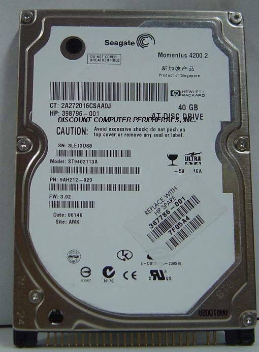 ST9402113A Seagate 40GB IDE 2.5 inch Drive Tested Free USA Ship Our Drives Work