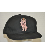 Vtg RALSTON PURINA Black EMBROIDERED Pig CHOW Cap HAT StrapBack USA Unwo... - $24.75