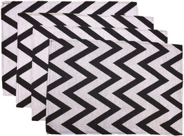 "Set of 4, 100% Cotton Chevron Woven Placemats Size : 13""x19"". - $15.99"