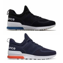 New Balance Men Sneakers Black Blue High Top Lace Up Athletic Shoes MS 5... - $90.47