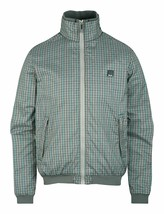 Bench UK Mens Gray Plaid Gaze Zip Up Winter Jacket with Fleece Lining NWT