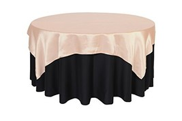 Your Chair Covers - 72 inch Square Satin Table Overlay Blush, Square Sat... - $11.14