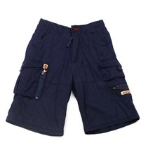 PACO JEANS Navy Blue Boys Shorts lot of Pockets Zippers adjust waist Car... - $9.89