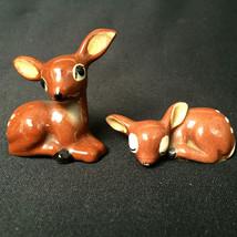 Vintage Minature Deer Set Of 2 Figures - $19.80