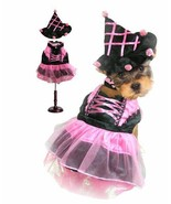 High Quality Dog Costume PINK POM POM WITCH COSTUMES Dogs As Halloween W... - $46.42+