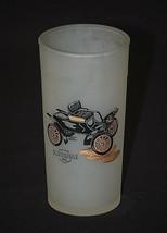 Old Vintage Hazel Atlas Frosted Highball Glasses Antique Car Oldsmobile ... - £9.92 GBP