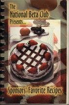 National Beta Club Sc  SPONSORS FAVORITE RECIPES COOK BOOK YOUTH ACHIEVE... - $8.06