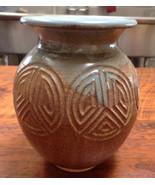Japanese Asian Style Studio Art Pottery Stoneware Ceramic Vase Signed Ep... - $159.99