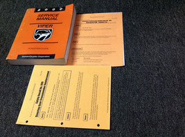 2000 Dodge Viper Coupe Roadster Service Shop Repair Manual Set W Recall Bulletin - $39.55
