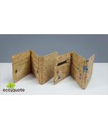 EcoQuote Eco Friendly Tri Fold Wallet Handmade Eco friendlly Cork Materi... - $27.50