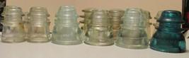 13 Vintage Glass Insulators Hemingray 42, Armstrong & Whitall - $48.00