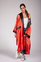 reversible womens kimono embroidered dragon nightwear bath robe dressing... - $32.00