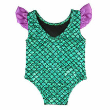 NWT Baby Girl Mermaid Shimmer Green Swimsuit Bathing Suit 6-12 Months - $7.91