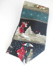 Mens Christmas Novelty Sport Necktie Santa Playing Golf Andhurst Silk Ne... - $9.95