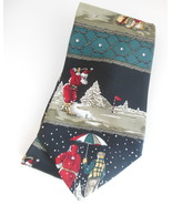 Mens Christmas Novelty Sport Necktie Santa Playing Golf Andhurst Silk Ne... - $9.95