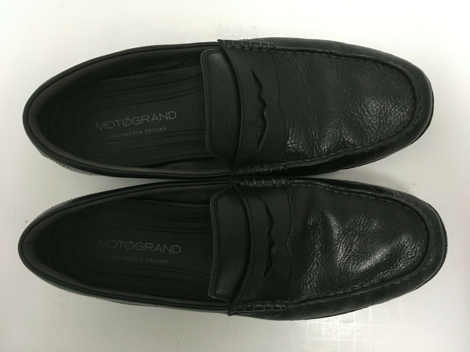 Cole Haan Men's MOTOGRAND Penny Loafer Black Leather Driving Shoes Size 11M GUC image 8