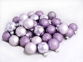 "60ct Lavender Purple Shatterproof 4-Finish Christmas Ball Ornaments 2.5""... - $29.25"