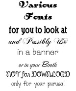Fonts for you to look at & pick no more than 4 for each BANNER you reque... - $0.00