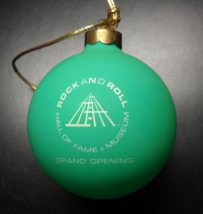 Rock and Roll Hall Of Fame Museum Christmas Ornament 1995 Grand Opening ... - $13.99