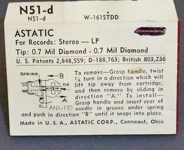 Astatic N-51-d PHONOGRAPH NEEDLE for Astatic 133 Cartridges 164-D7 image 2