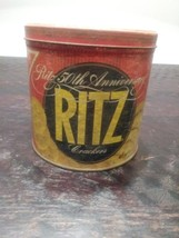 Ritz Crackers 50th Anniversary Tin, 1980s - $6.00