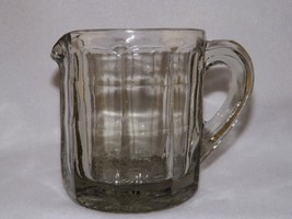 Vintage Depression GREEN Glass Anchor Hocking Block Optic Cream Pitcher ... - $19.96