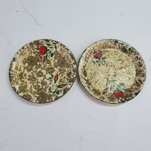 Highmount Vintage Coasters Japan Alcohol Proof Paper Mache Lacquerware - $6.08