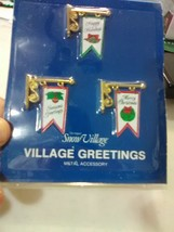 Dept 56 Snow Village Accessory Greetings Metal Signs (3) - $4.55