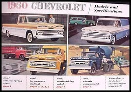 1960 Chevrolet Truck Brochure Pickup Panel El Camino - $16.59