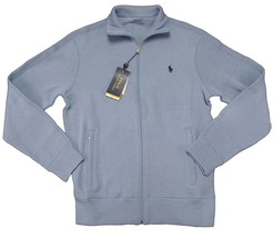 POLO Ralph Lauren Men's Performance Full Zip Ribbed Knit Sweater Blue M L XL XXL - $99.95