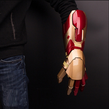Avengers Iron Man MK42 Sound& LED Light & Laser Gun Fore Arm Armor Cospl... - $399.00