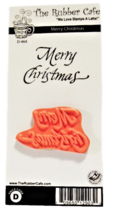 """The Rubber Cafe, """"Merry Christmas"""" Rubber Stamp"""