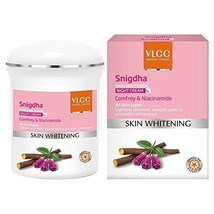 VLCC Snigdha Skin Whitening Night Cream, 50g- Rich in natural oils  - $13.42