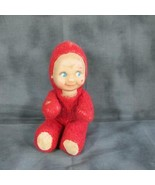 VINTAGE RED KNICKERBOCKER KEWPIE DOLL CAMEO O'NEILL SOFT PLUSH FURRY BODY - $14.01