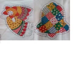 "Bell & Angel Fabric Panels 4"" x 5,""/6""x 6""/ craft,toys,women,kids,childr... - $2.48"