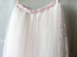 White Tulle Lace Maxi Long Skirt White Wedding Tulle Skirt 4XL Plus Size image 7