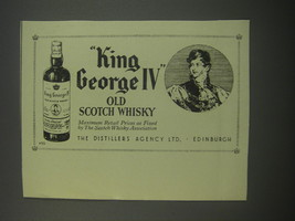 1954 King George IV Old Scotch Whisky Advertisement - $14.99