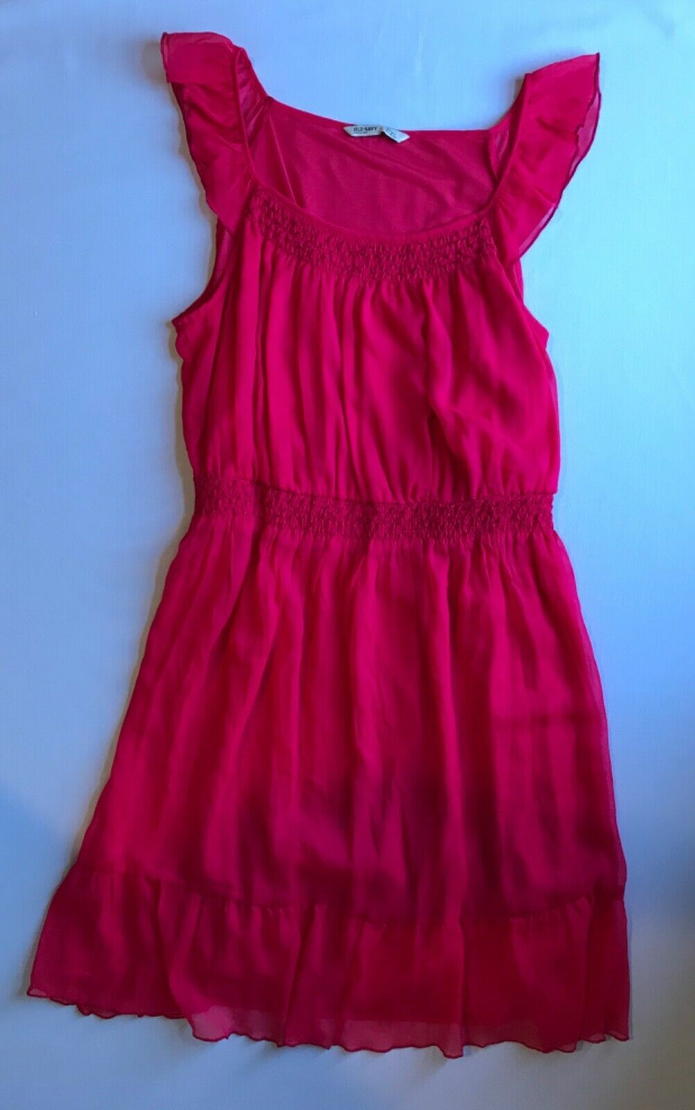 Primary image for Flutter Sleeve Dress w/ruched neckline and waist in XL by OLD NAVY