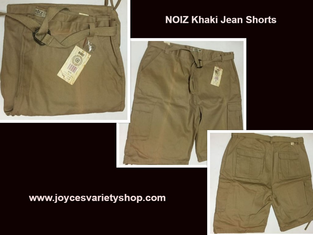Noiz mens jean shorts 48 beige web collage