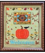 Autumn Greetings cross stitch chart Needle Bling Designs  - $10.80
