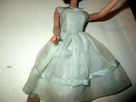 Vintage 1962 Mattel Barbie Movie Date Blue Pinstripe Dress Original No 933 - $18.00