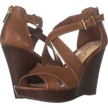 Jessica Simpson Jakayla Wedge Sandals 225, Sunkissed Brown, 7 US - $32.63