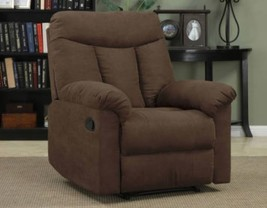 Brown Recliner Chair Den Man Cave Living Room Furniture Polyester Microf... - $395.99