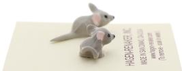 Hagen-Renaker Miniature Ceramic Mouse Figurine Tiny Baby Mice 2 Piece Set image 4